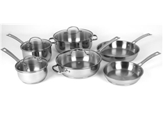 Premium 10pc. Stainless Steel Cookware Set