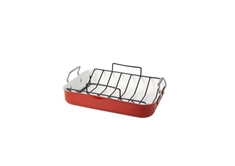 Aluminum Roaster with Rack - Red