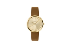 Agnes Gold'n Brown Leather  34mm Women's