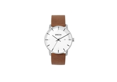Phase SS Brown Italian Leather 39mm Men's