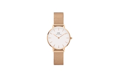 Ladies Classic Petite Melrose - White and Rose Gold 28mm