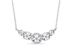 1/6 CT Diamond Necklace in Silver