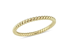 Gold Twist Fashion Ring - Sz.7