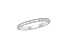 Silver Twist Fashion Ring - Sz.7