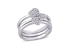 Diamond 3pc. Fashion Ring Set - Sz.7