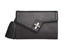 Milck Clutch  Classic with Removable Tassel -Black