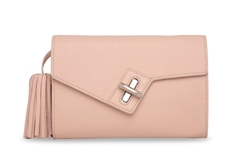 Milck Clutch  Classic with Removable Tassel -Rose
