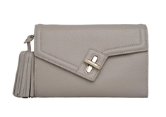 Milck Clutch  Classic with Removable Tassel - Stone