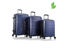 EcoCase Spinner Luggage 3pc Set-Navy