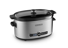 6 Qrt Slow Cooker Stainless Steel