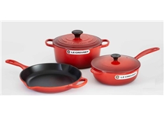 5 piece Cast Iron Set - Cerise
