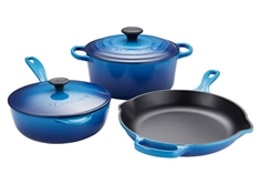 5 piece Cast Iron Set - Blueberry