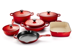 10 Piece Cast Iron Set - Cerise