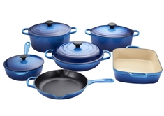 10 Piece Cast Iron Set - Blueberry