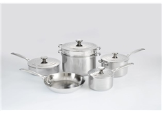 10 Piece Cookware Set - Stainless Steel