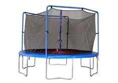13' Round Trampoline and Enclosure Combo with Flash Zone
