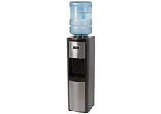 Top Load Water Dispenser w/Kettle Feature,Black & Stainless