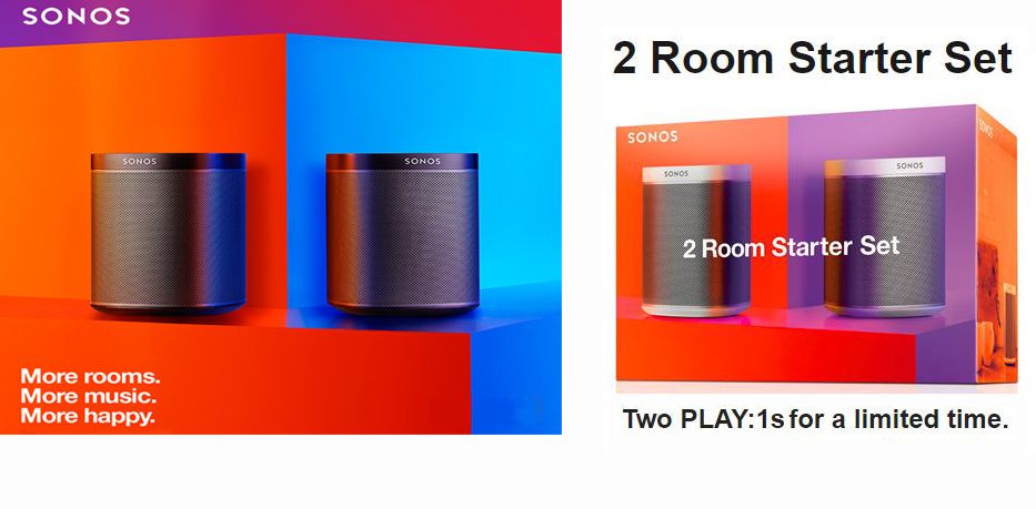 sonos play 1 bundle